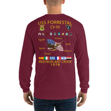 Load image into Gallery viewer, USS Forrestal (CV-59) 1978 Long Sleeve Cruise Shirt