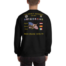 Load image into Gallery viewer, USS John F. Kennedy (CV-67) 1978-79 Cruise Sweatshirt