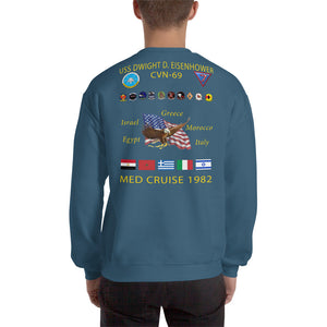 USS Dwight D. Eisenhower (CVN-69) 1982 Cruise Sweatshirt