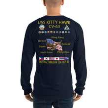 Load image into Gallery viewer, USS Kitty Hawk (CV-63) 1978-80 Long Sleeve Cruise Shirt