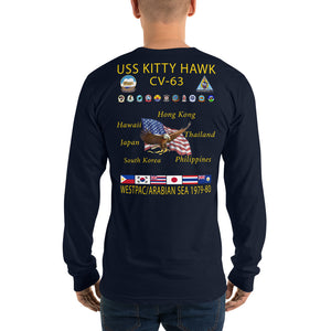 USS Kitty Hawk (CV-63) 1978-80 Long Sleeve Cruise Shirt