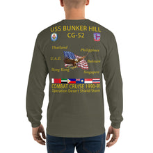 Load image into Gallery viewer, USS Bunker Hill (CG-52) 1990-91 Long Sleeve Cruise Shirt