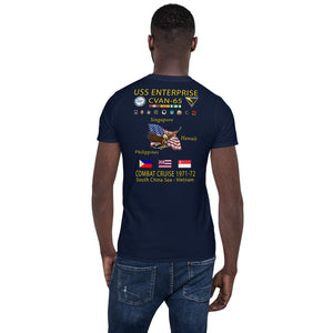 USS Enterprise (CVAN-65) 1971-72 Cruise Shirt