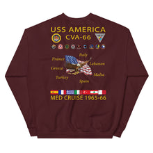 Load image into Gallery viewer, USS America (CVA-66) 1965-66 Cruise Sweatshirt