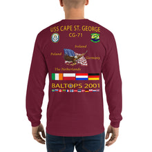 Load image into Gallery viewer, USS Cape St George (CG-71) 2001 Long Sleeve Cruise Shirt