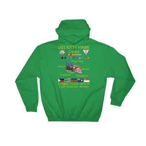USS Kitty Hawk (CVA-63) 1973-74 Cruise Hoodie