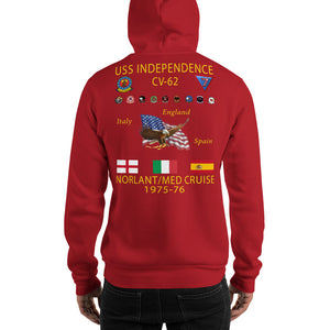USS Independence (CV-62) 1975-76 Cruise Hoodie