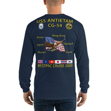 Load image into Gallery viewer, USS Antietam (CG-54) 2009 Long Sleeve Cruise Shirt