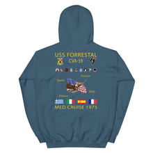 Load image into Gallery viewer, USS Forrestal (CVA-59) 1975 Cruise Hoodie