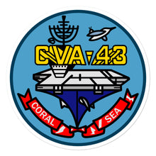 Load image into Gallery viewer, USS Coral Sea (CVA-43) Ship's Crest Vinyl Sticker