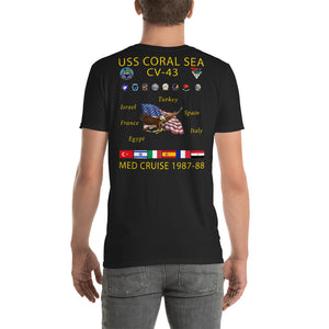 USS Coral Sea (CV-43) 1987-88 Cruise Shirt