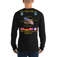 Load image into Gallery viewer, USS Iowa (BB-61) 1985 Long Sleeve Cruise Shirt