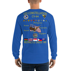 USS Constellation (CV-64) 1985 Long Sleeve Cruise Shirt