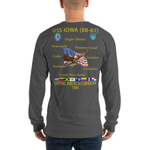 Load image into Gallery viewer, USS Iowa (BB-61) 1984 Long Sleeve Cruise Shirt