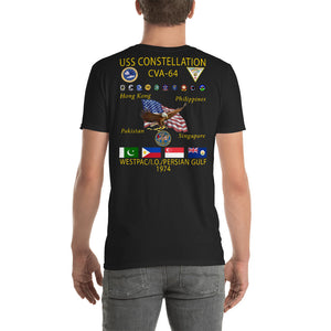 USS Constellation (CVA-64) 1974 Cruise Shirt