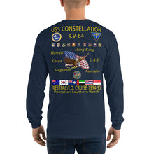 Load image into Gallery viewer, USS Constellation (CV-64) 1994-95 Long Sleeve Cruise Shirt