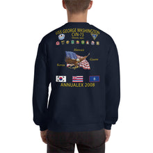 Load image into Gallery viewer, USS George Washington (CVN-73) 2008 ANNUAL EX Cruise Sweatshirt