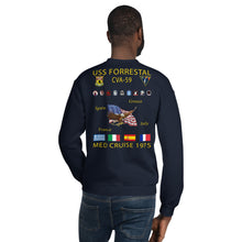 Load image into Gallery viewer, USS Forrestal (CVA-59) 1975 Cruise Sweatshirt