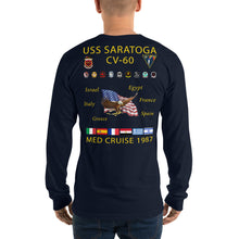 Load image into Gallery viewer, USS Saratoga (CV-60) 1987 Long Sleeve Cruise Shirt