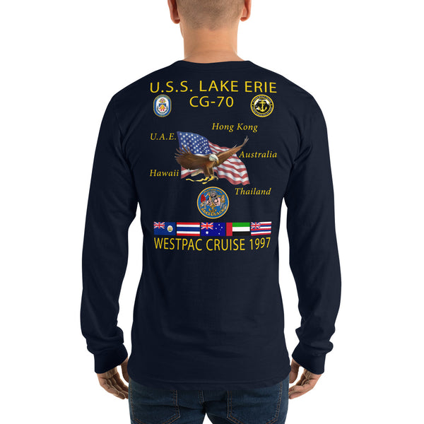 USS Lake Erie (CG-70) 1997 Long Sleeve Cruise Shirt
