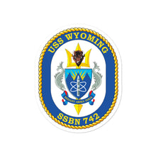 Load image into Gallery viewer, USS Wyoming (SSBN-742) Ship's Crest Vinyl Sticker