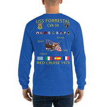 Load image into Gallery viewer, USS Forrestal (CVA-59) 1975 Long Sleeve Cruise Shirt