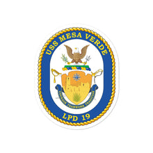 Load image into Gallery viewer, USS Mesa Verde (LPD-19) Ship's Crest Vinyl Sticker