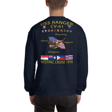 Load image into Gallery viewer, USS Ranger (CV-61) 1976 Cruise Sweatshirt