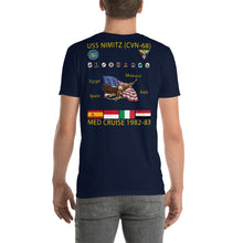 Load image into Gallery viewer, USS Nimitz (CVN-68) 1982-83 Cruise Shirt