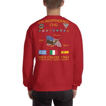 Load image into Gallery viewer, USS Independence (CV-62) 1982 Cruise Sweatshirt