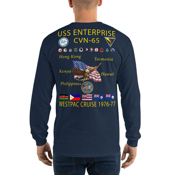 USS Enterprise (CVN-65) 1976-77 Long Sleeve Cruise Shirt