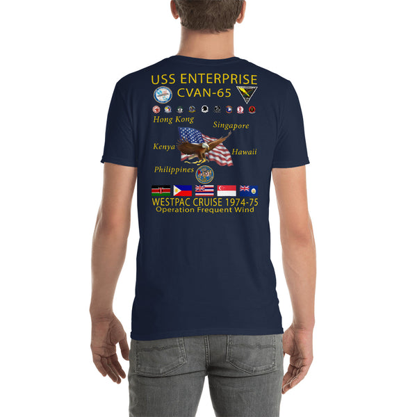 USS Enterprise (CVAN-65) 1974-75 Cruise Shirt