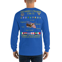 Load image into Gallery viewer, USS Harry S. Truman (CVN-75) 2004-05 Long Sleeve Cruise Shirt