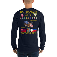 Load image into Gallery viewer, USS Ranger (CV-61) 1983-84 Long Sleeve Cruise Shirt