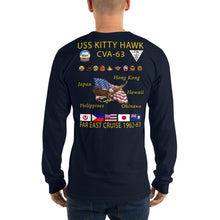 Load image into Gallery viewer, USS Kitty Hawk (CVA-63) 1962-63 Long Sleeve Cruise Shirt