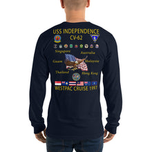 Load image into Gallery viewer, USS Independence (CV-62) 1997 Long Sleeve Cruise Shirt