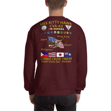 Load image into Gallery viewer, USS Kitty Hawk (CVA-63) 1968-69 Cruise Sweatshirt
