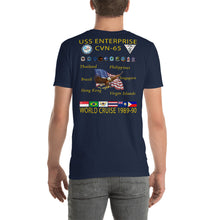 Load image into Gallery viewer, USS Enterprise (CVN-65) 1989-90 Cruise Shirt