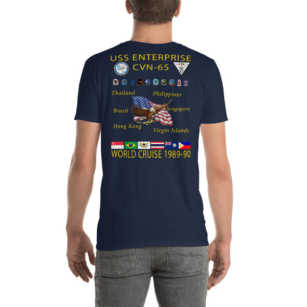 USS Enterprise (CVN-65) 1989-90 Cruise Shirt