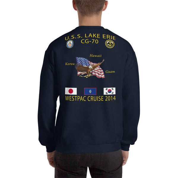 USS Lake Erie (CG-70) 2014 Cruise Sweatshirt