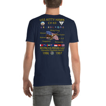 Load image into Gallery viewer, USS Kitty Hawk (CV-63) 1996-97 Cruise Shirt