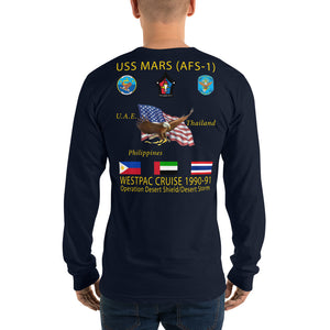 USS Mars (AFS-1) 1990-91 Long Sleeve Cruise Shirt