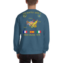 Load image into Gallery viewer, USS Seattle (AOE-3) 1976 Cruise Sweatshirt