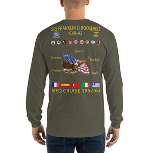 USS Franklin D. Roosevelt (CVA-42) 1962-63 Long Sleeve Cruise Shirt