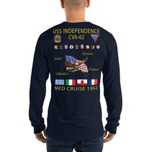 Load image into Gallery viewer, USS Independence (CVA-62) 1962 Long Sleeve Cruise Shirt