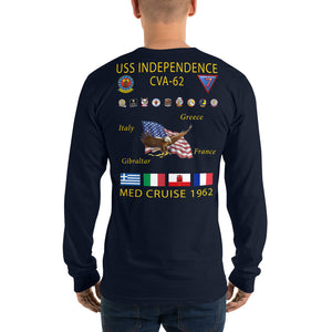 USS Independence (CVA-62) 1962 Long Sleeve Cruise Shirt