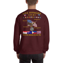 Load image into Gallery viewer, USS Ranger (CV-61) 1982 Cruise Sweatshirt