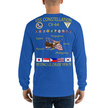 Load image into Gallery viewer, USS Constellation (CV-64) 1978-79 Long Sleeve Cruise Shirt