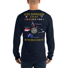 Load image into Gallery viewer, USS Ranger (CV-61) 1982 Long Sleeve Cruise Shirt - Map