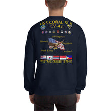 Load image into Gallery viewer, USS Coral Sea (CV-43) 1979-80 Cruise Sweatshirt